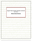 Egypt Real Estate Market Outlook to 2013