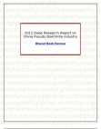 2012 Deep Research Report on China Pseudo Boehmite Industry