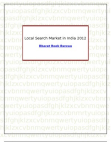 Local Search Market in India 2012