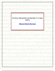 Online Advertising Market in India 2012