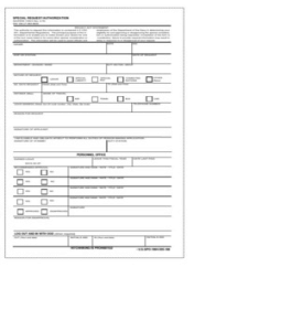 Special request chit pdf